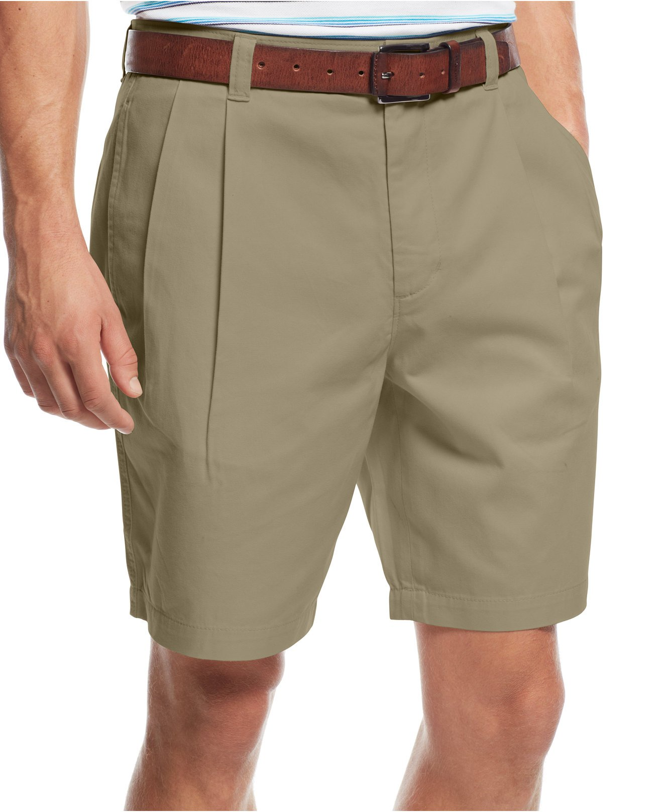 Club Room Shorts, Core Twill Double Pleated (32W, Creek Bed)