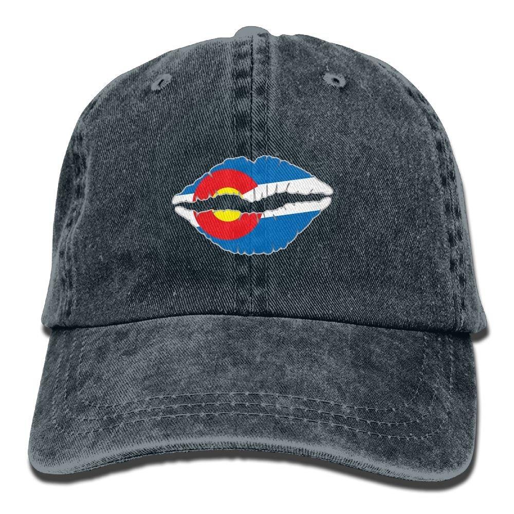 LETI LISW Colorado State Flag LipsVintageBaseball Cap Adult Unisex Adjustable Cap