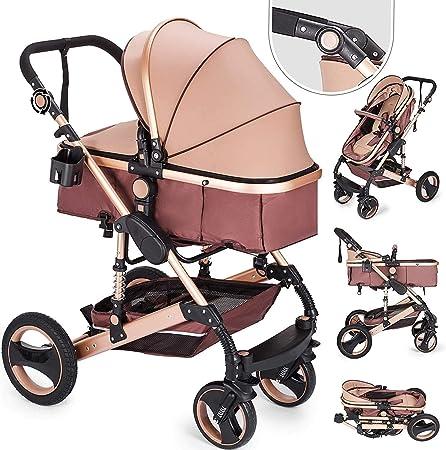 Opinión sobre Carrito De Bebe 2 En 1 Cochecito Bebé Plegable Portátil Ligero Amortiguador Ajustable con Carro Multiuso para Bebés Recién Nacidos Carrito con Capazo Cuna para Bebé
