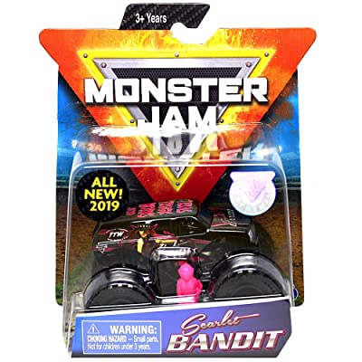 Monster's Jam, Official Scarlet Bandit Monster Truck, Die-Cast Vehicle, Danger Divas Series, 1:64 Scale: Everything Else