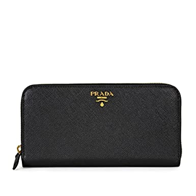583d7e87a5f5 Prada Women's Saffiano Leather Black at Amazon Women's Clothing store: