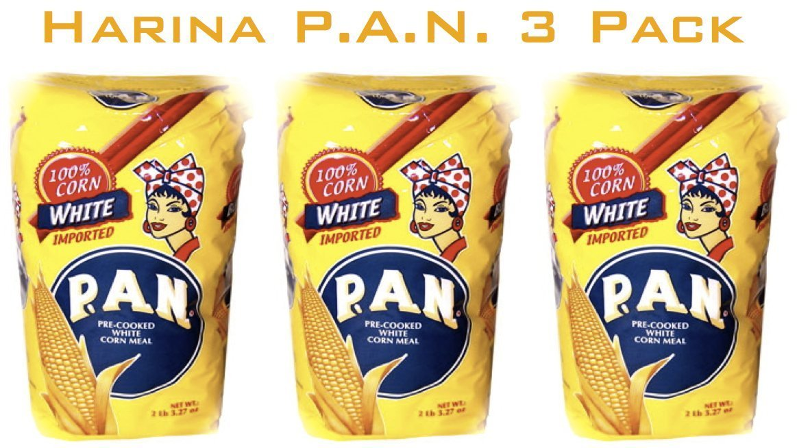 Harina P.a.n. White Corn Meal 1 kg(35 oz/2 lb 3.3 oz) (3-pack)