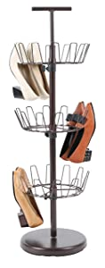 19. Tidy Living 3 Tier Revolving Shoe Rack
