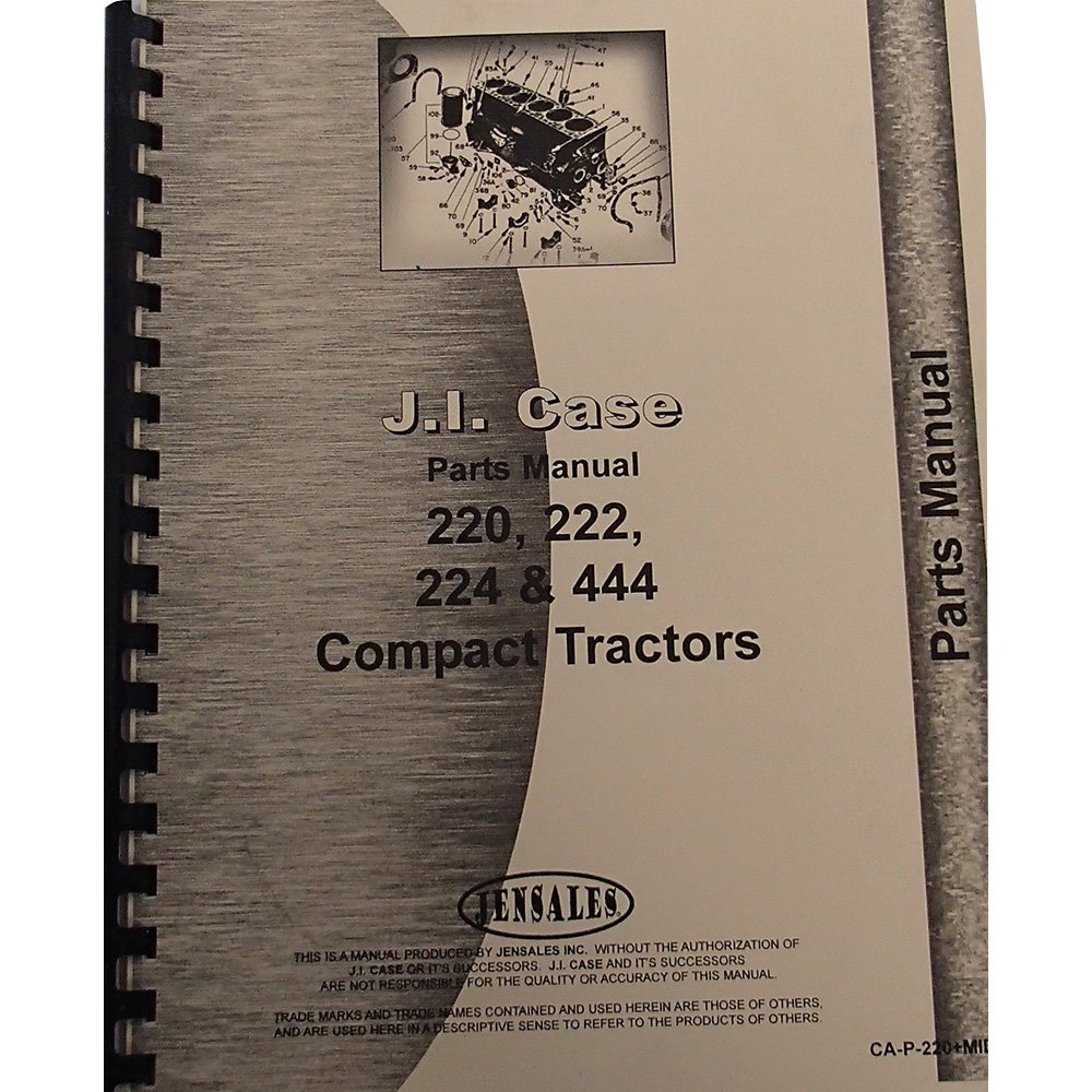 Amazon.com: New Case 444 Compact Tractor Parts Manual (Lawn ... on