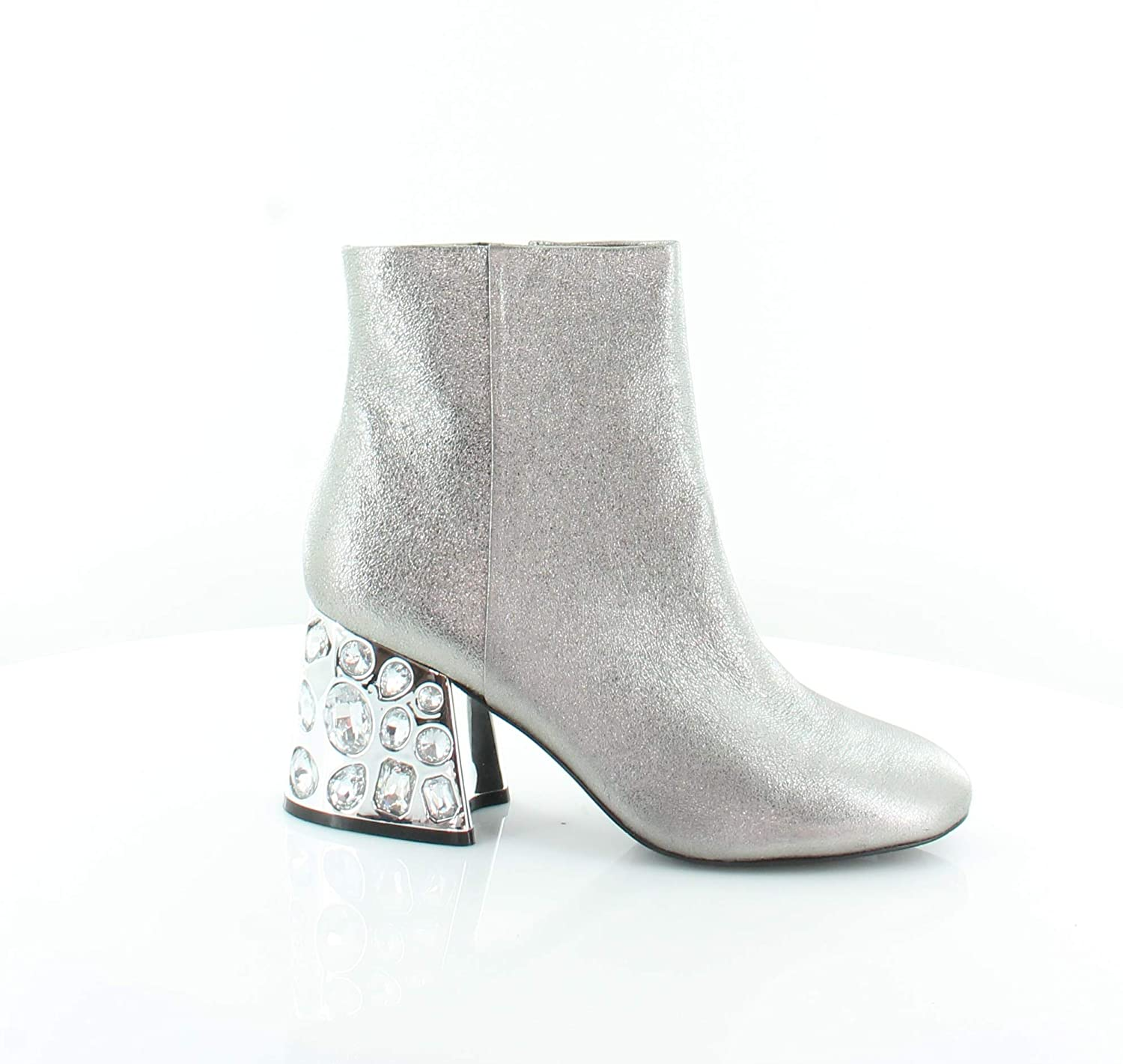 Silver Leather Kenneth Cole New York Rosie Suede Bootie - Women's