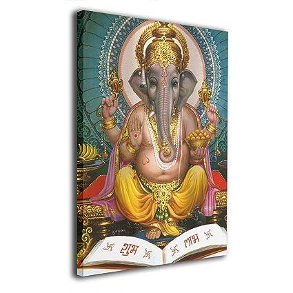 Amazon.com: OANAklsd Lord Ganesha Estatua Hindú Espiritual ...