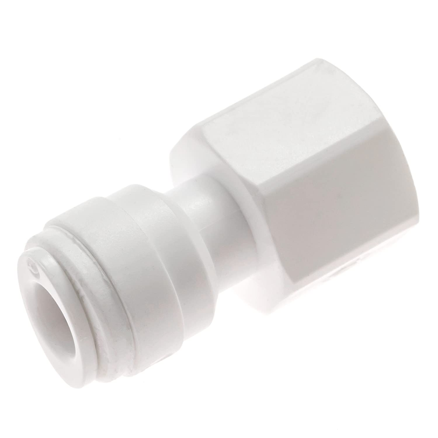 Avanti Membrane Technology Drinking Water Faucet Connector - 1/4 tube OD x 7/16-24 UNS, quick-connect fitting & thread - QF-FF04