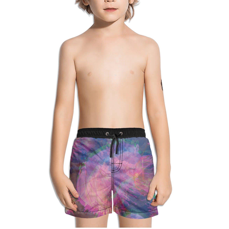 Ouxioaz Boys Swim Trunk Trippy Jellyfish Beach Board Shorts