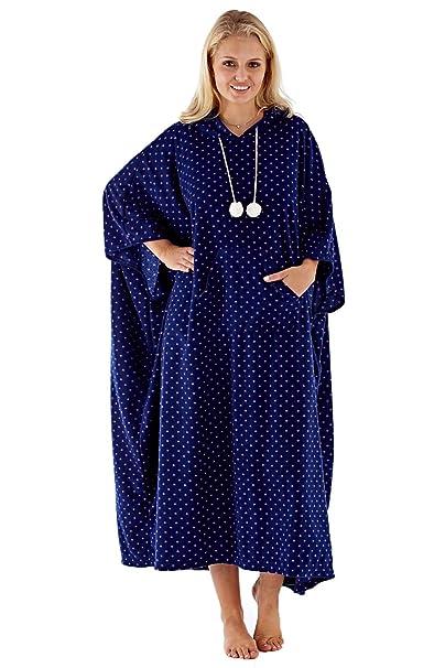 Albornoz de lujo con capucha para mujer, diseño de lunares, de Womens Inspirations: Amazon.es: Ropa y accesorios