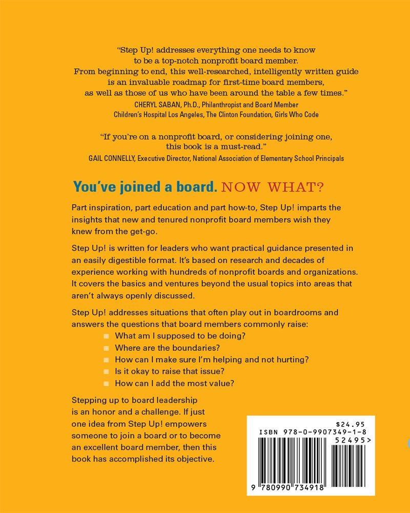 Step up how to be an excellent nonprofit board member elizabeth step up how to be an excellent nonprofit board member elizabeth bailey nancy schmidt betsey binet gretchen goetz 9780990734918 amazon books fandeluxe Images