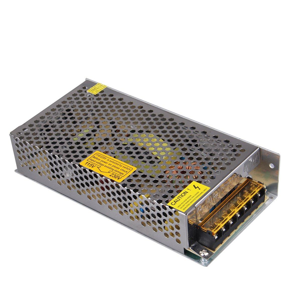 XKTTSUEERCRR 12V 10A 120W Alimentation Convertisseur Transformateur Adaptateur pour 3528/5050 LED Bande Lumières