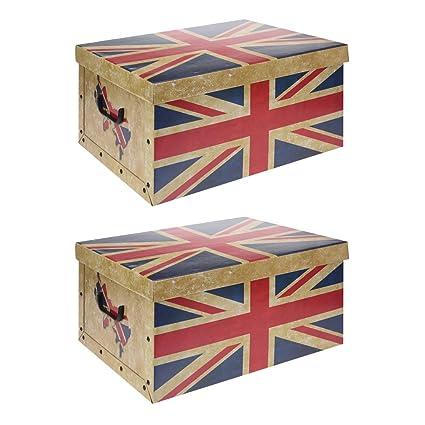 2 x XXL Cajas Nou Cajas Bandeja Cajas de almacenaje Cajas Cajas de Cartón con Tapa