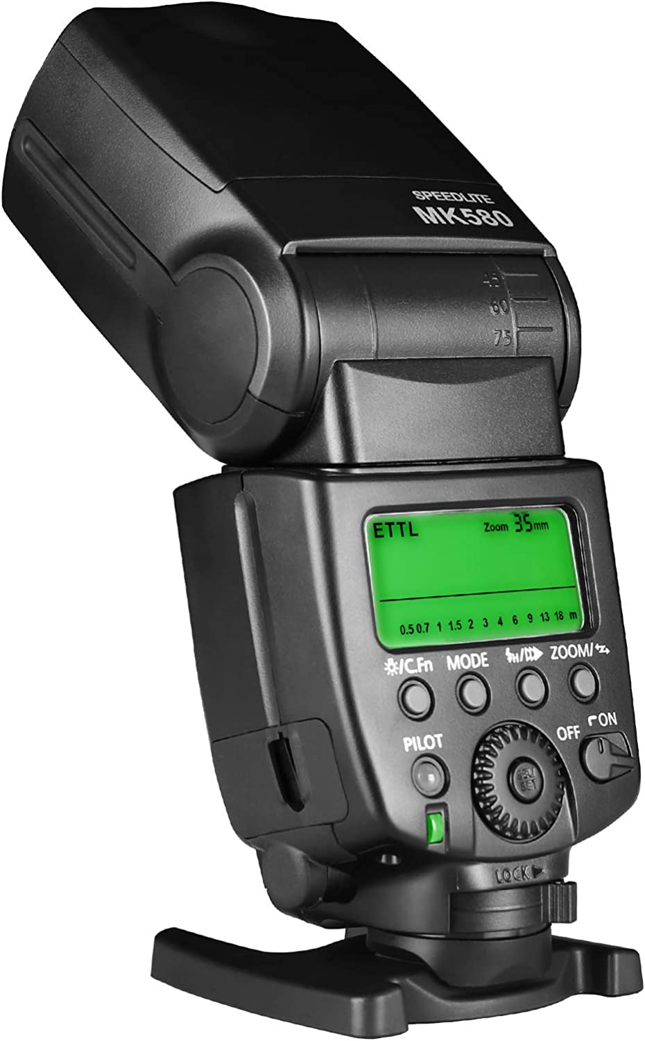 Meike MK-580 TTL Camera Speedlite Flash Compatible with Canon EOS Cameras 5D III 6D 60D 450D 500D 550D 600D 650D 700D T6 T3i and Other Canon EOS Cameras with Standard hot Shoe Adison Tek