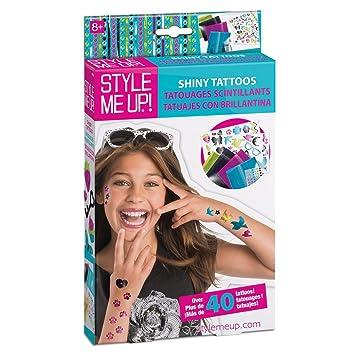 Style Me Up Tatuajes Temporales Para Ninas Con Brillantina - Juegos-de-tatuajes-para-nios