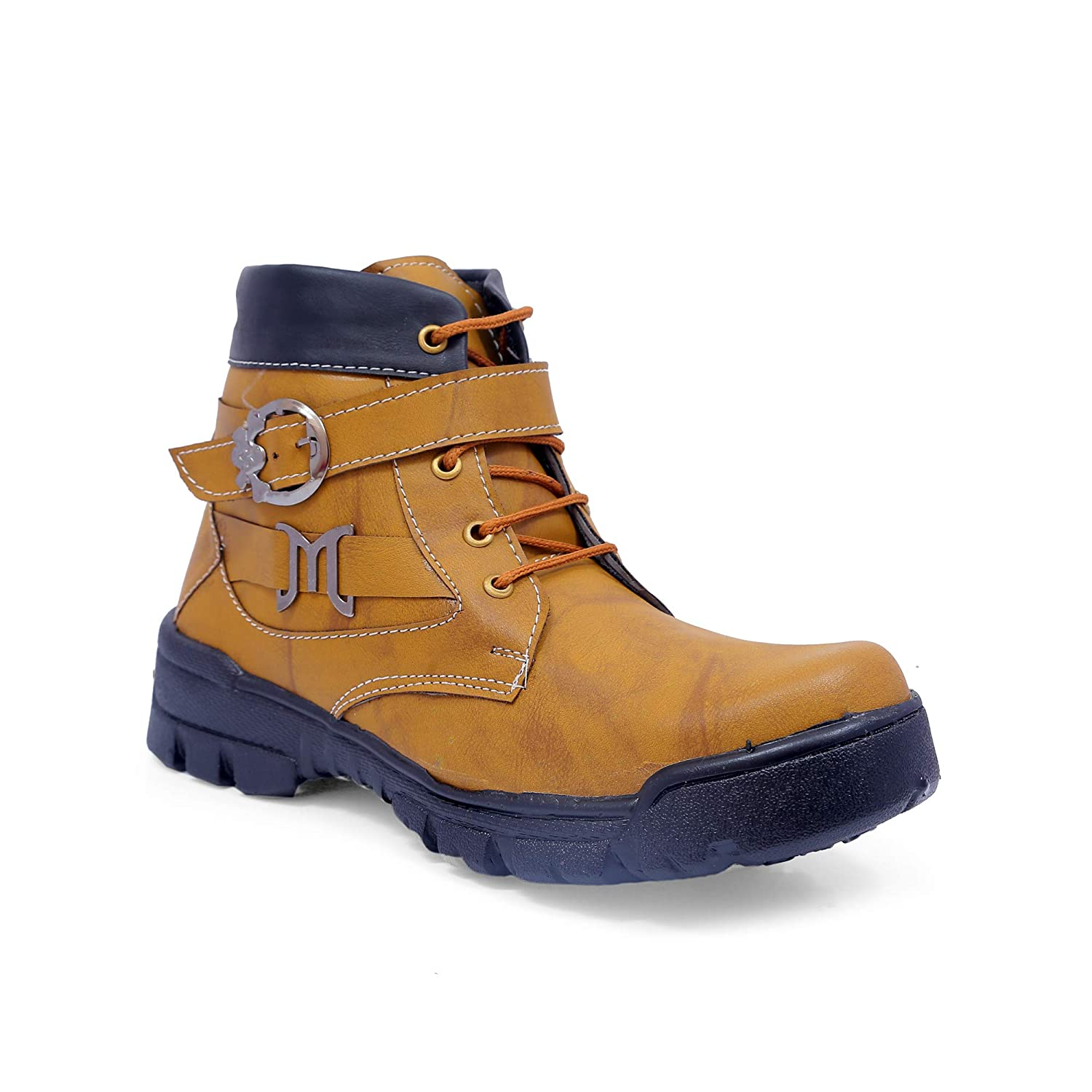 667994ea1e5 Daris Men/boy Casual American Synthetic Leather in Fashion High Top Boots  Shoes for Outdoor & Party Wear