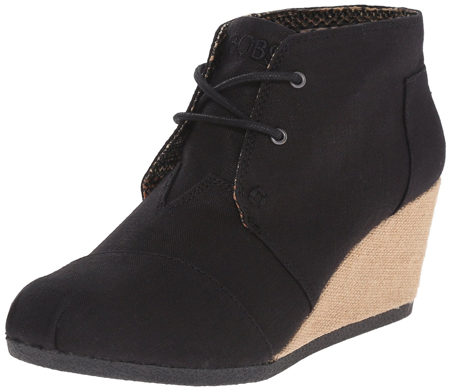 Skechers BOBS from Women's High-Notes - Melodies Boot, Black Linen, 9.5 M US
