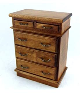 Melody Jane Dolls House Chess Set with Light Oak Storage Drawer Miniature Study