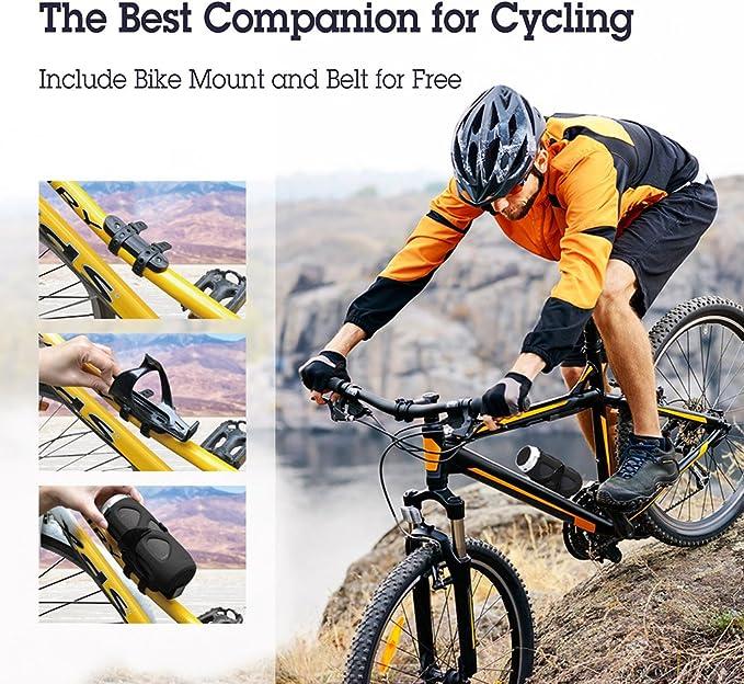 Avantree Portable Wireless Bike Speaker With Bicycle Mount /& SD Card Slot 10W
