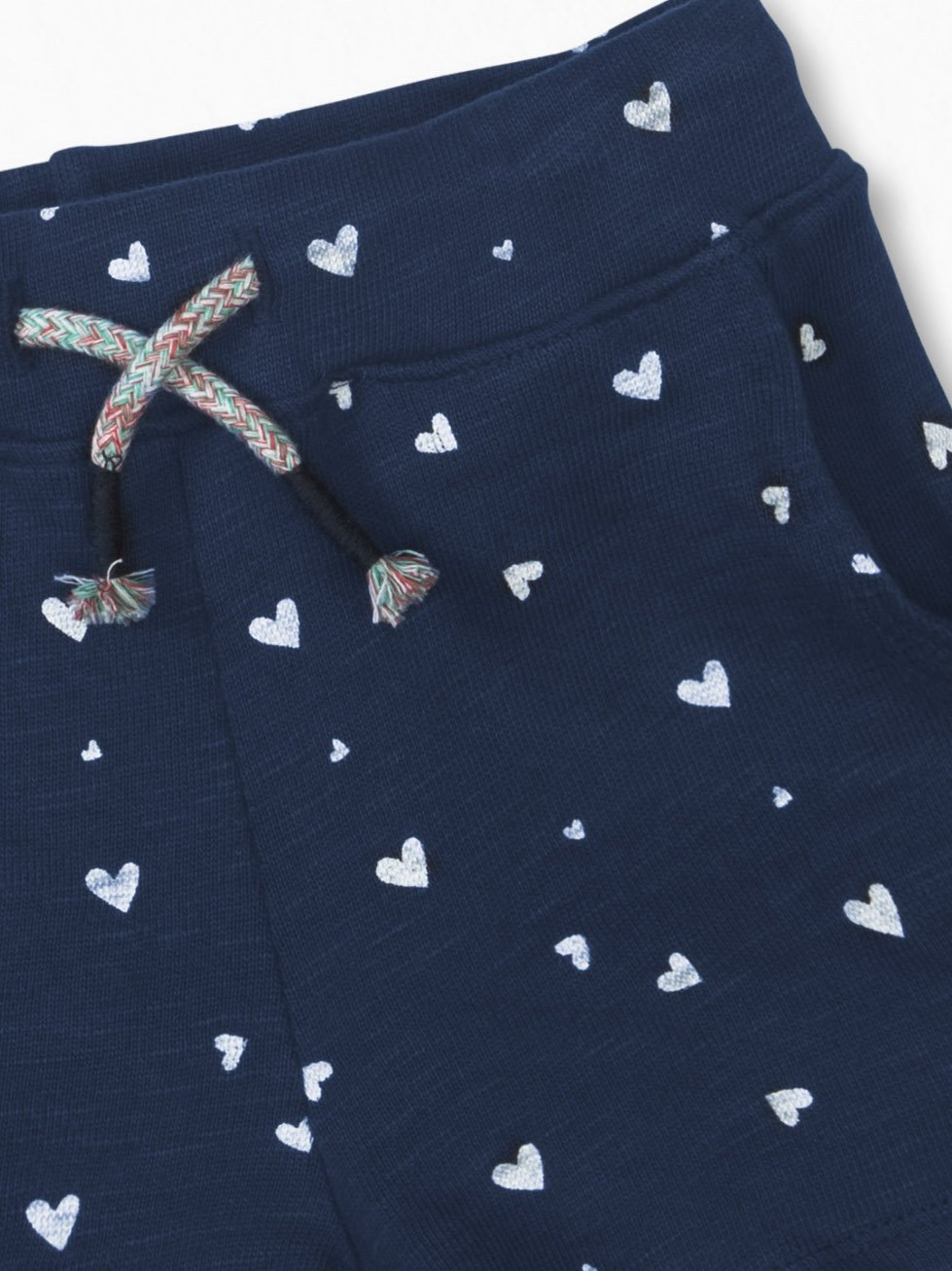 Colored Organics Girls Organic Nika Sport Shorts - Navy/White Heart Print - 2T by Colored Organics (Image #4)