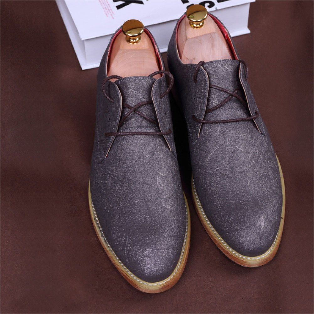 ZPFDY Männer Sommer Casual Casual Casual Business British Breathable Mode Jugend Spitze Lederschuhe b9c029