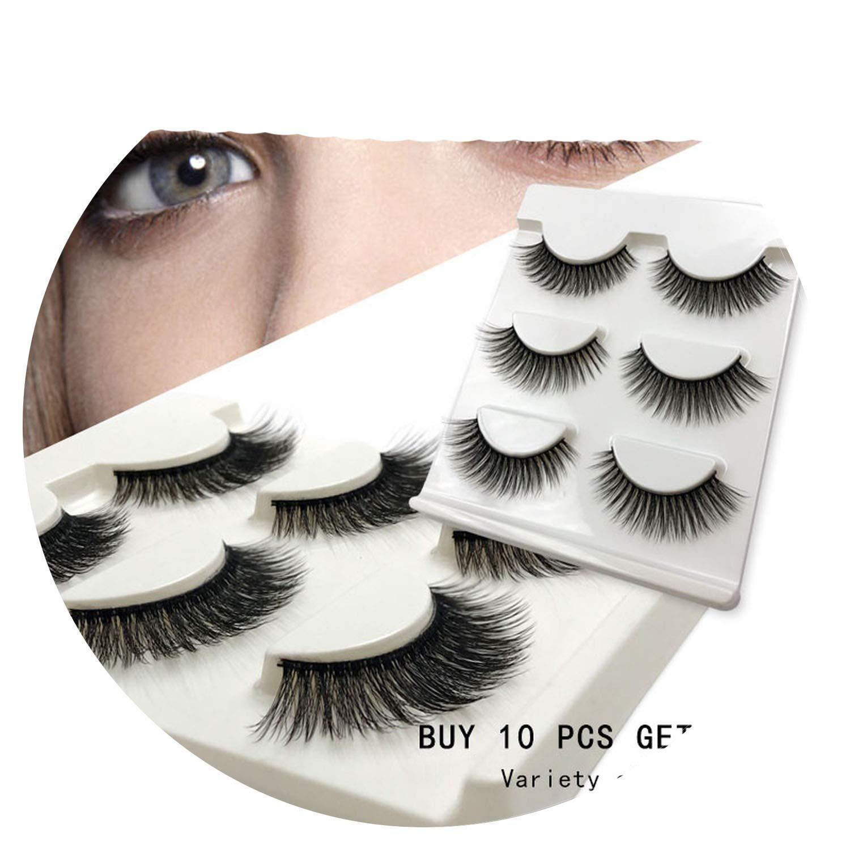 Amazon com : New 3 pairs natural false eyelashes fake lashes long