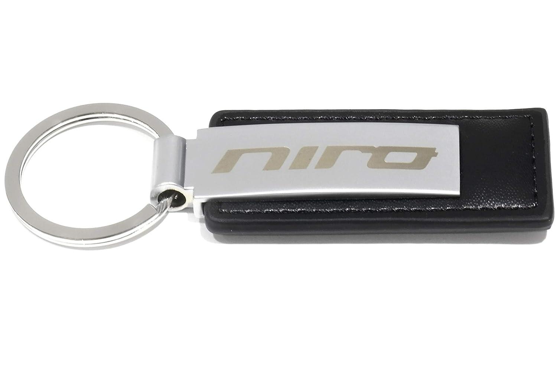 Llavero con etiqueta de piel con logo de Niro y cromo 2017 ...