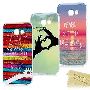 "e0c9f99743a Mavis's Diary 3X Funda Silicona para Samsung Galaxy A5 2017 A520  5.2"",Gel TPU"