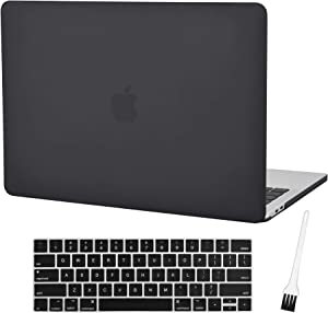 MacBook Pro 13 Case Laptop Plastic Cover Hard Case 2019 2018 2017 2016 Release A2159 A1989/A1706/A1708 Plastic Hard Shell & Silicone Keyboard Cover Compatible Mac Pro 13 Inch (Frost Black)