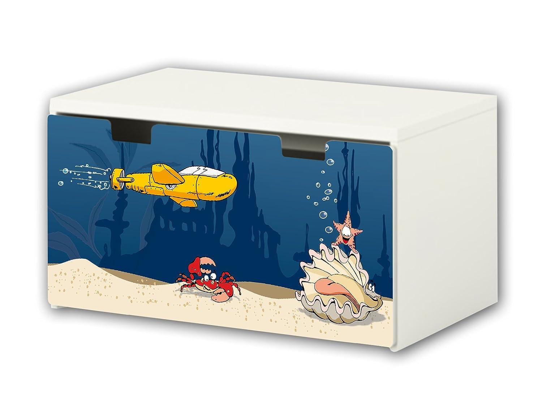 Underwater World Furniture Film | BT26 | Furniture sticker with butterfly Motive | matching to the children's storage bench STUVA of IKEA (90 x 50 cm) Furniture Not Included | STIKKIPIX STIKKIPIX®