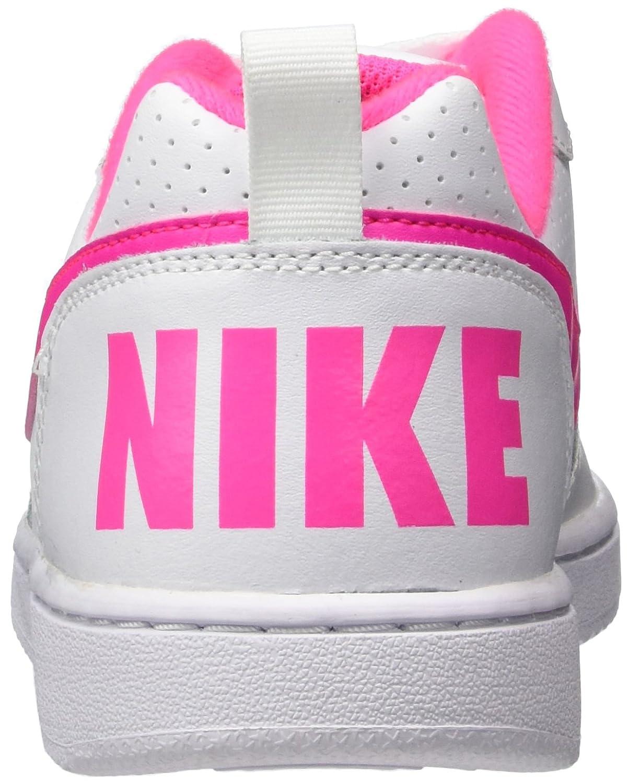 Nike Damen / Court Borough Low (GS) Basketballschuhe Weiß (White / Damen Pink Blast 100) 9cad5d