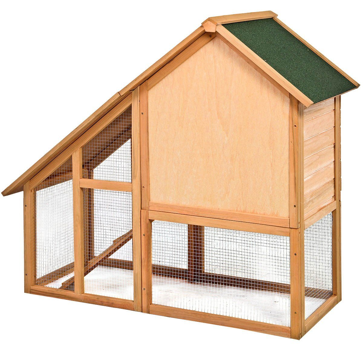 Tangkula Deluxe Wooden Chicken Coop 55'' Hen House Rabbit Wood Hutch Poultry Cage Habitat by Tangkula (Image #3)