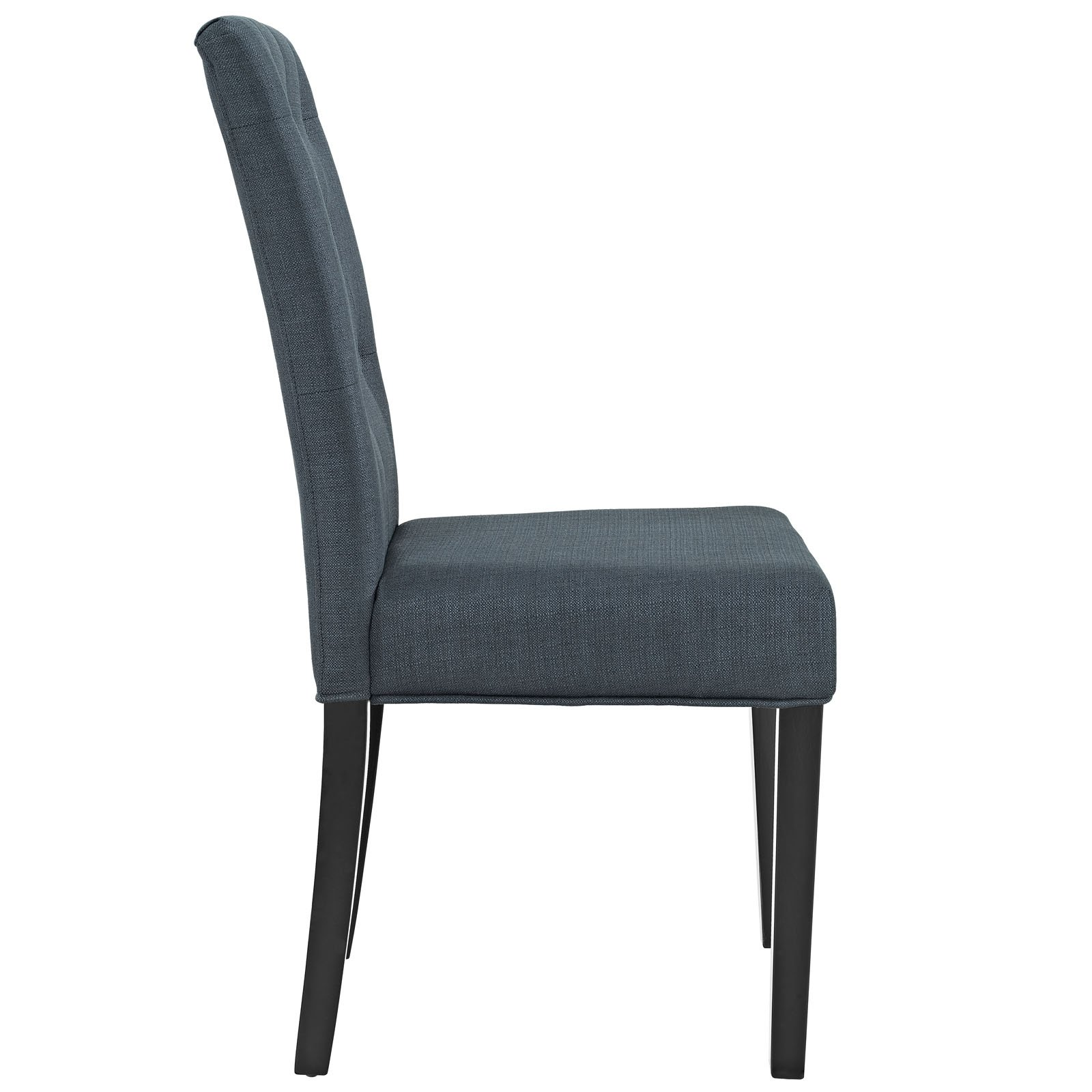 Modway Confer Dining Fabric Side Chair, Gray by Modway (Image #2)