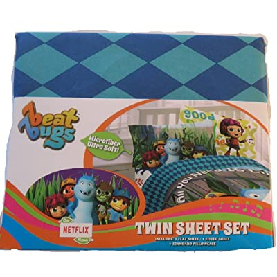 Franco Beat Bugs Twin Sheet Set: Home & Kitchen
