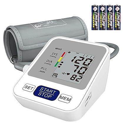 Annsky Tensiómetro de Brazo Digital, Automática de la Presión Arterial y pulso de frecuencia cardíaca