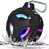 EBODA Bluetooth Shower Speaker, Waterproof Portable Bluetooth Speakers, IP67 Waterproof Wireless Speaker with LED Light, Floa