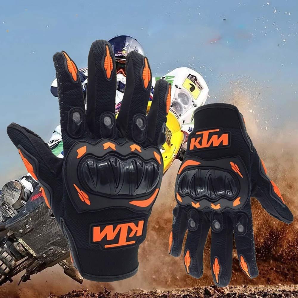 CBFYKU Conducci/ón de Motocicletas Pista de Carreras para Todo Terreno Guantes Resistentes a los Golpes