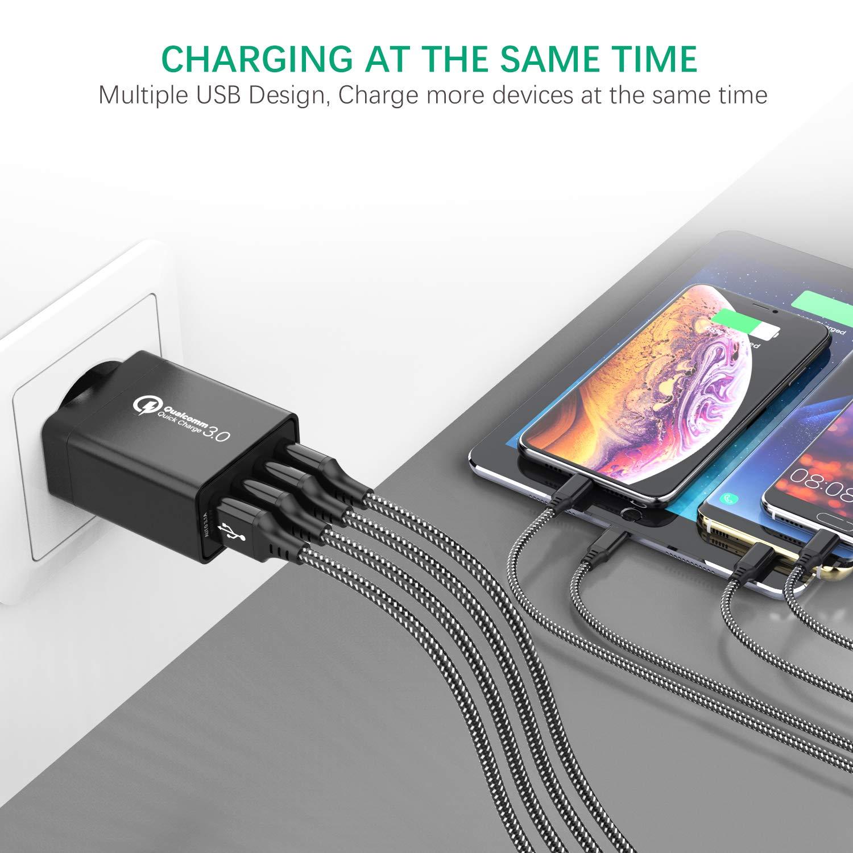 IWAVION Cargador USB,Quick Charge 3.0 30w Cargador USB de Pared ...