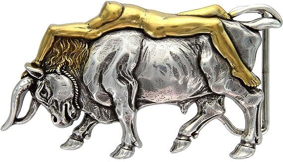 Italian Artisan: Antique Silver/Gold Lady Bull bel…