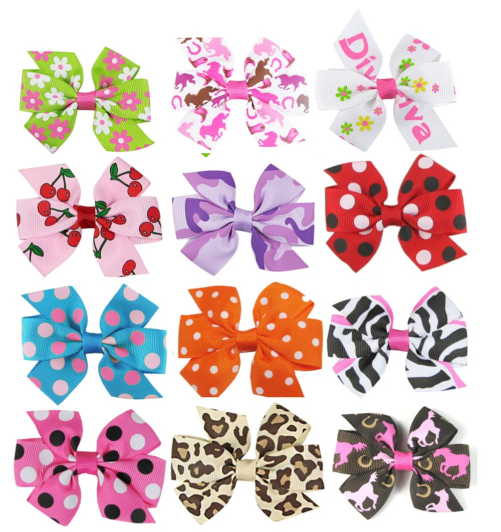 Clothing, Shoes & Accessories 8 Pcs Baby & Girl Hair Clip Bow Flower Mini Barrettes Grift Set