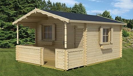 Jardín Casa G63 con soporte suelo – 28 mm listones hogar, superficie: 12,