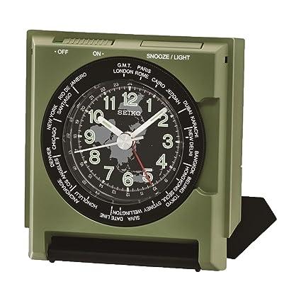 QHE116M Seiko reloj de alarma de batería con segundero
