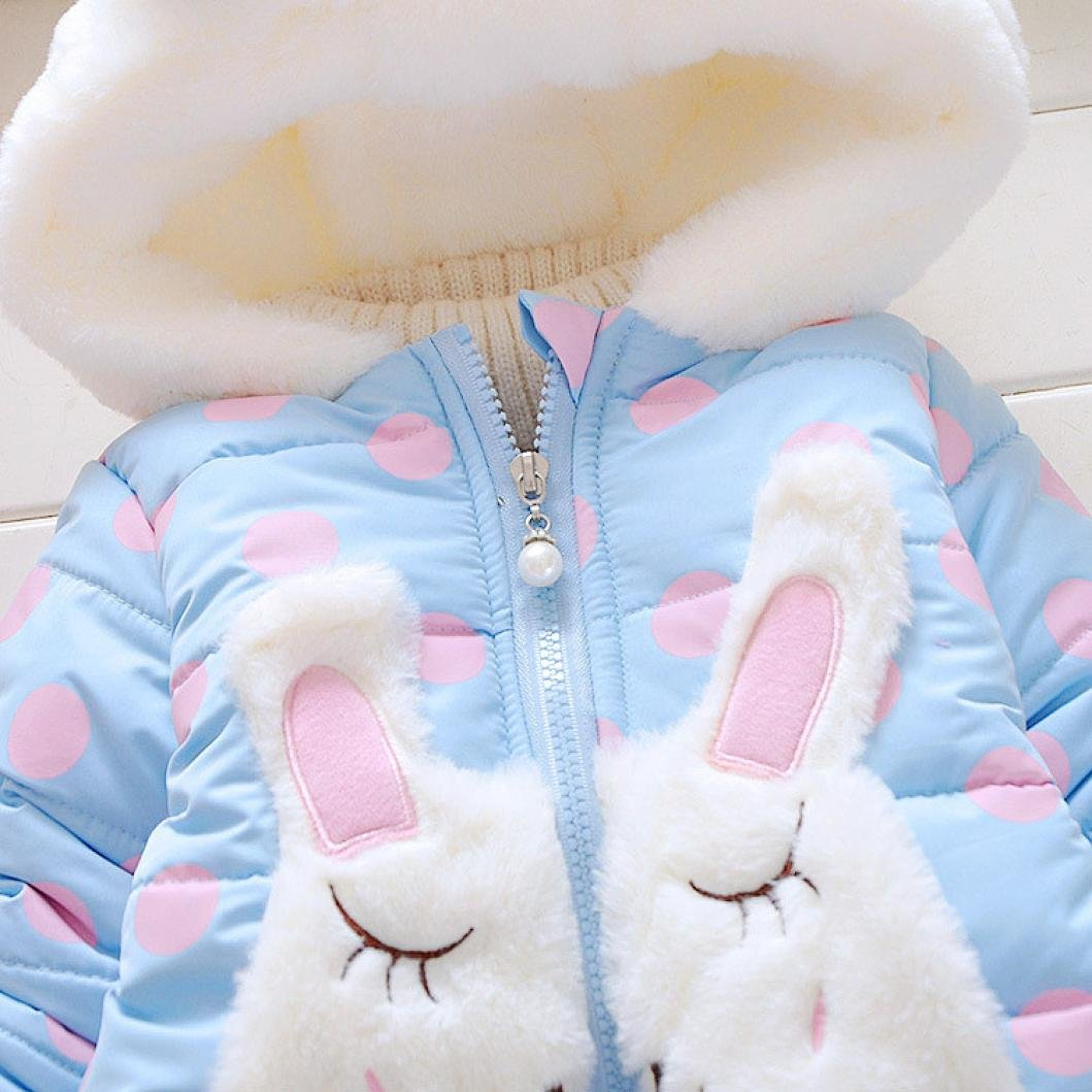 Logobeing - Bebé Niñas Chaqueta Sudadera con Capucha Manga larga Polca Punto Abrigo Hoodies (24Mes, Azul): Amazon.es: Ropa y accesorios