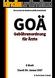 Gebührenordnung für Ärzte (GOÄ) – E-Book -  Stand: 04. Januar 2017