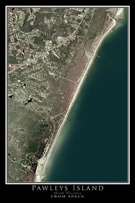 Pawleys Island South Carolina Map.Amazon Com Terra Prints Pawleys Island South Carolina Satellite