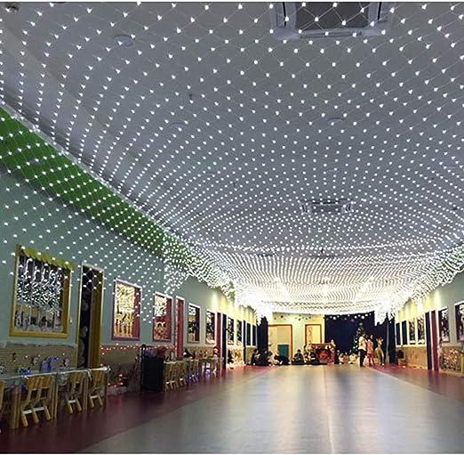 Luz LED Net Interior, Exterior Luz de Navidad Navidad Luces de Cadena, Varios tamaños, Blanca Single 10 * 8m: Amazon.es: Hogar