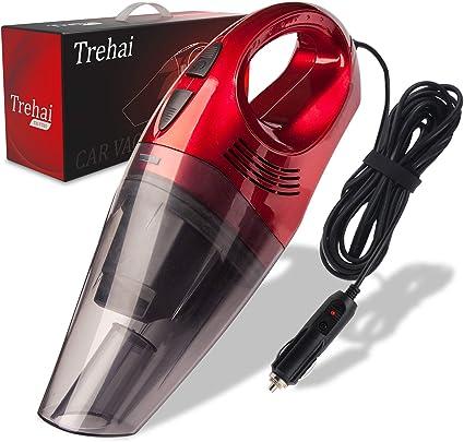Trehai Aspirador Coche - Actualizado Potentes 4800pa DC 12V 120W ...