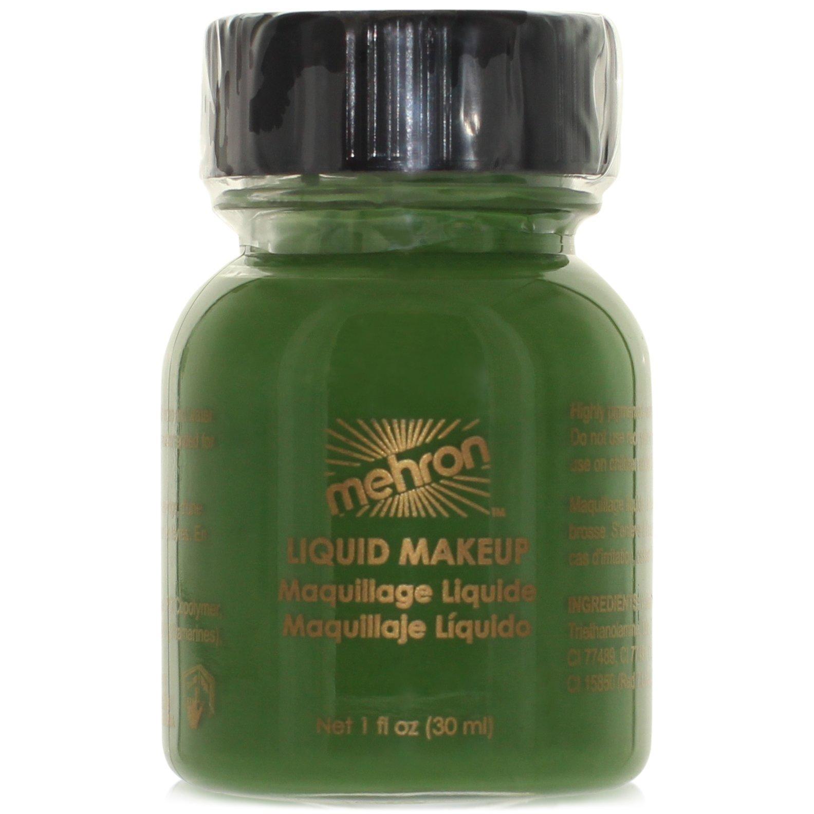 Mehron Makeup Liquid Face and Body Paint (1 oz) (GREEN)