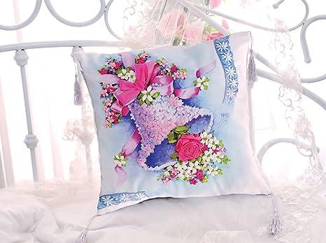 Amazon.com: Bell Listón de seda flor floral decorativo ...