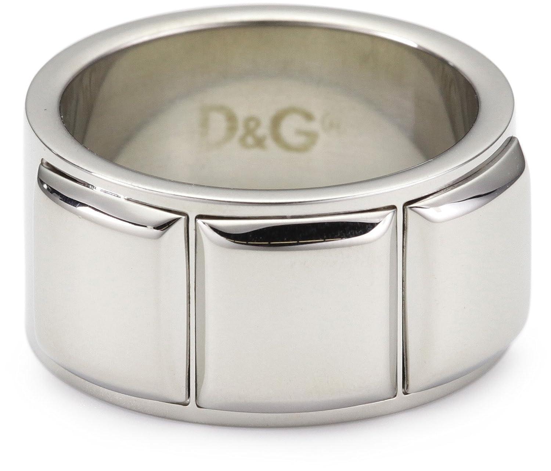 Dolce & Gabbana DJ0836 - Anillo de hombre de acero inoxidable (talla: 21) D&G Id&G Extension
