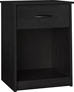 Ameriwood Home Core Nightstand, Black Oak